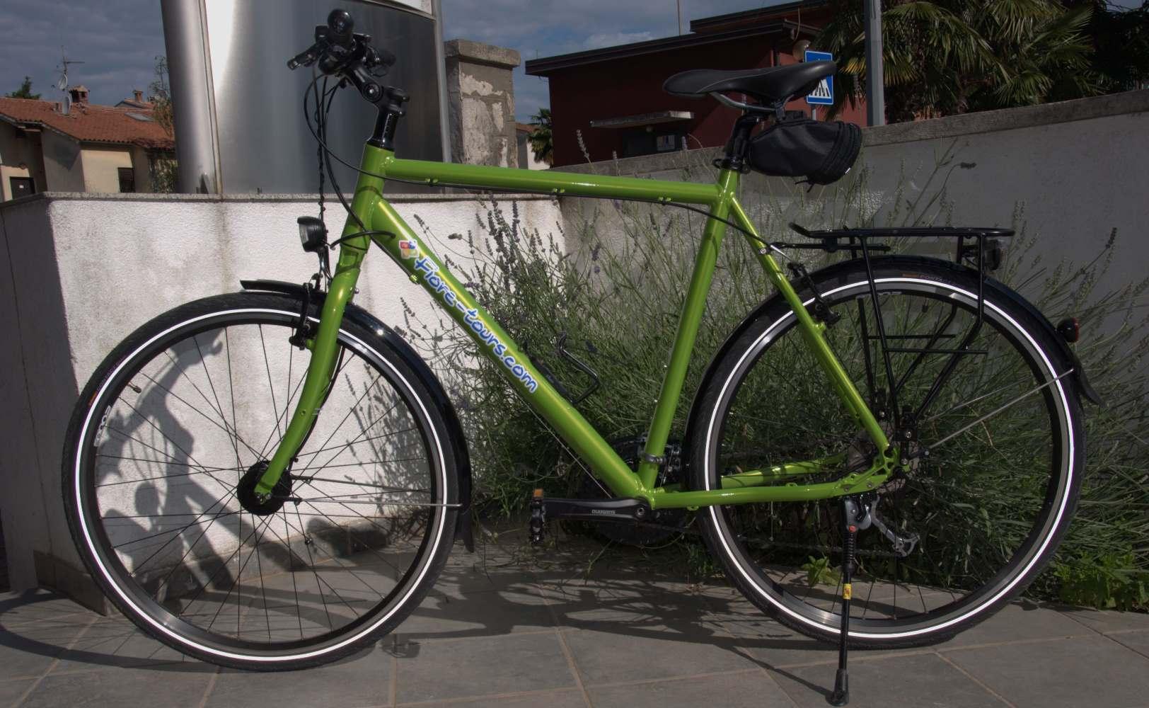 Custom built hybrid trekking bikes