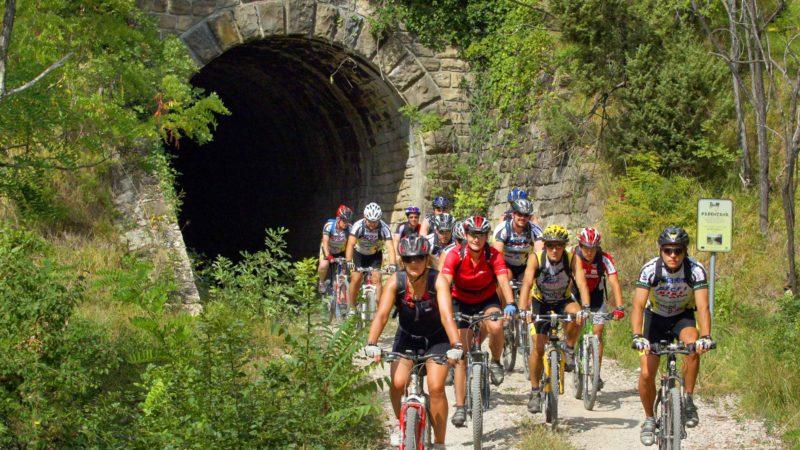 Fiore Tours Parenzana trail cycling, biking, walking